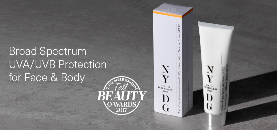 NYDG Chem-Free Active Defense SPF30 Banner